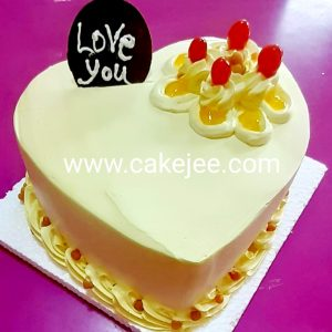 Heart shape special butter scotch cake