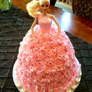 Barbie Doll- Black Forest Cake