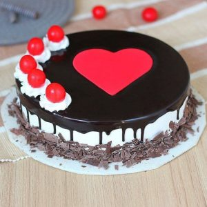 Black forest chocolate cake with fresh cream