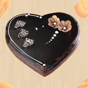 Chocolate heart shape special cake