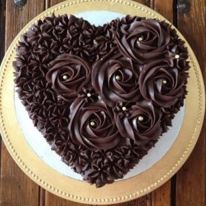 Hard chocolate heart shape