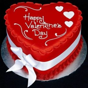 Special Valentine Heart Shape Cake
