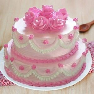 Strawberry double story cake