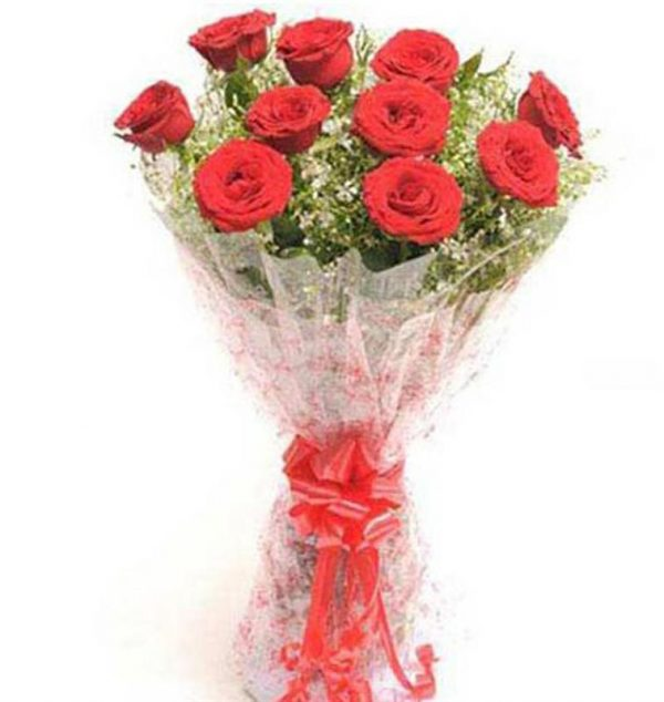 10 red roses bunch at cakejee.com