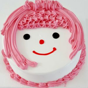 Smiley doll cake in black forest flavour