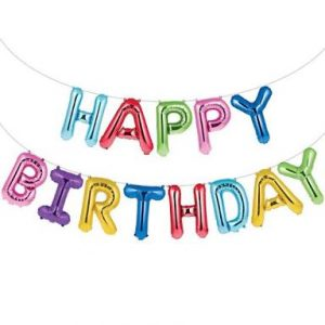 Birthday balloon banner 149-1