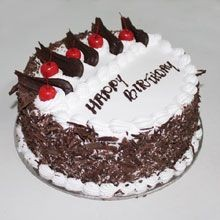 Black forest cake for birthday