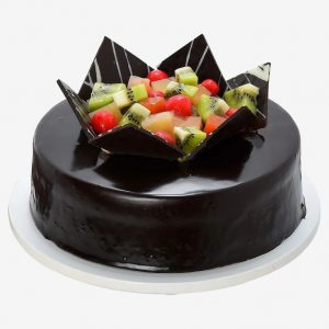 Chocolate truffle fresh fruit cake