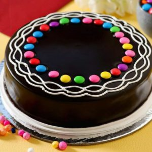 Gems chocolate cake for kids birthday
