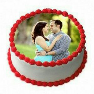 Photo cake-butter scotch round shaped special cake