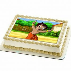 Photo cake special- cartoon cake for kids birthday in pineapple flavour
