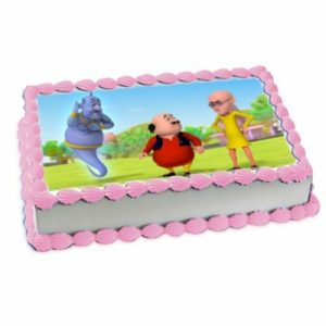 Special Photo cake – motu patlu cartoon cake for kids birthday