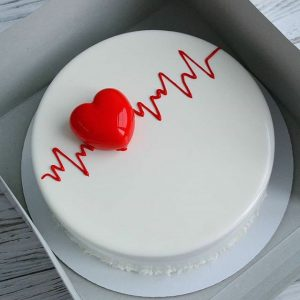 Special heart beat cake in black forest