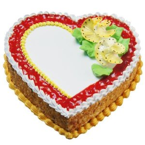 Special heart shape butter scotch cake