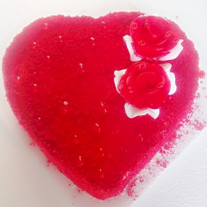 Special red velvet heart shape cake