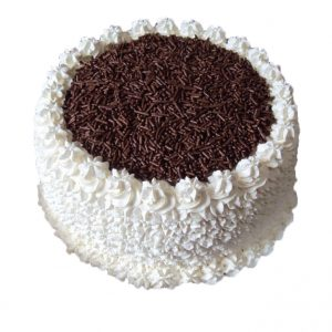 Vanilla chocolate cake with fresh cream flavour vanilla and chocolate